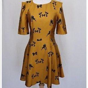 Ted Baker Gold Dress